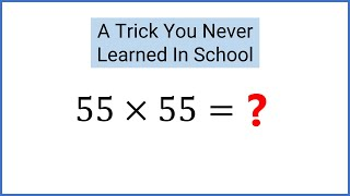 GENIUS Math Trick Square A Number Ending In 5 In Your Head