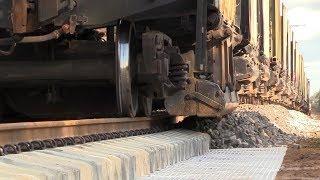 Капитальный ремонт ж.д. часть 3/8 -  Хоппер-дозаторы / Track repair 3/8 - Ballast hopper cars