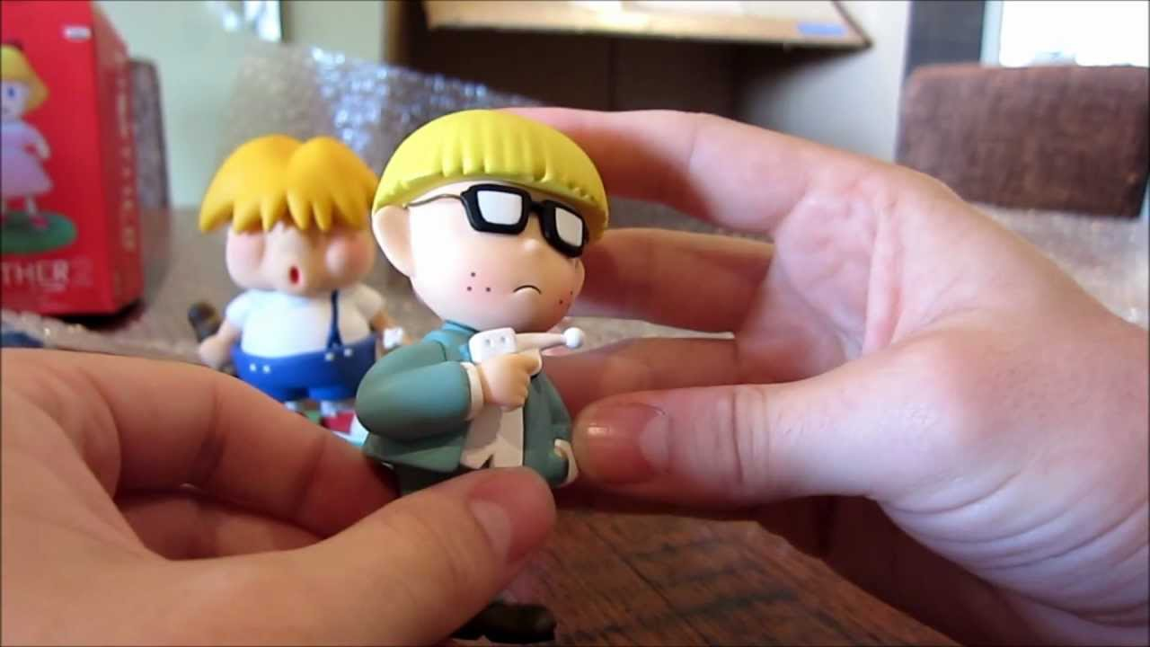Mother 2 (Earthbound) Figures (by Banpresto) Unboxing pt  1 (Ness, Paula,  Jeff and Porky figures)