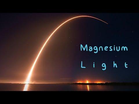 Magnesium Light. Burning Magnesium.