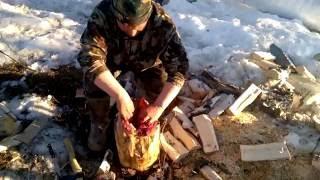 видео Приготовление дичи в полевых условиях