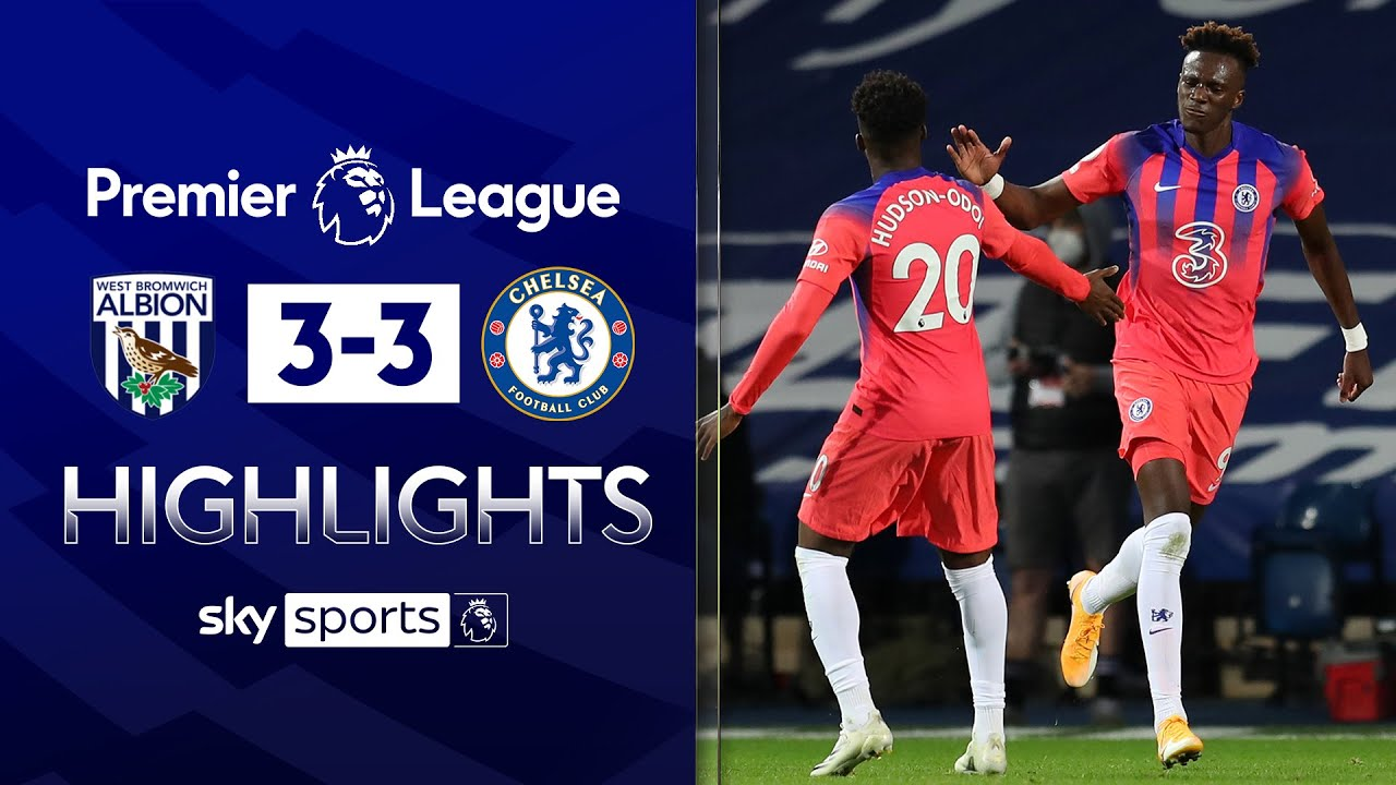 Abraham 93rd minute equaliser rescues point for Chelsea!   West Brom 3-3 Chelsea   EPL Highlights