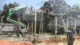 Nice Little Video Installing A 30x40x12 Pole Barn Incomplete But Cool