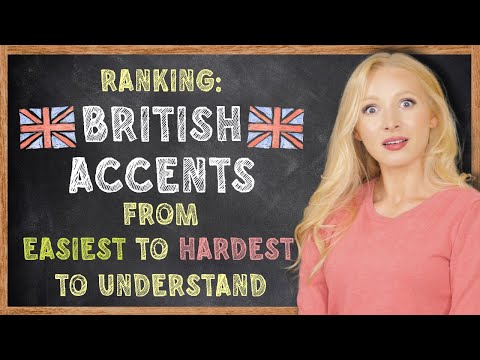 British Accents Ranked from Easiest to Hardest (with TEST & Examples)