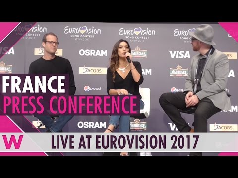 "France Press Conference — Alma ""Requiem"" Eurovision 2017 