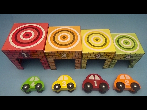 Learn to Count with Colourful Cars and Surprise Eggs!  Sorting Game!