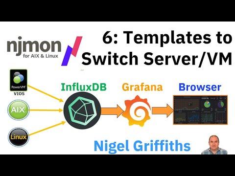 njmon + InfluxDB + Grafana Series 6: Templates