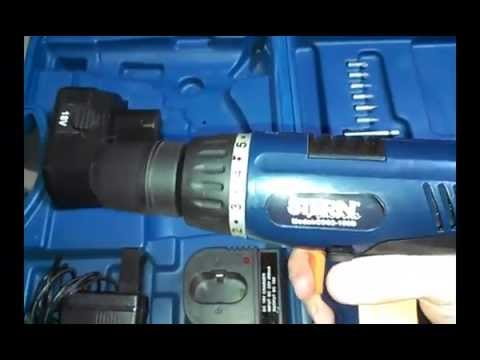 Шуруповерт аккумуляторный Stern CD03-180B. Б/У электроинструмент