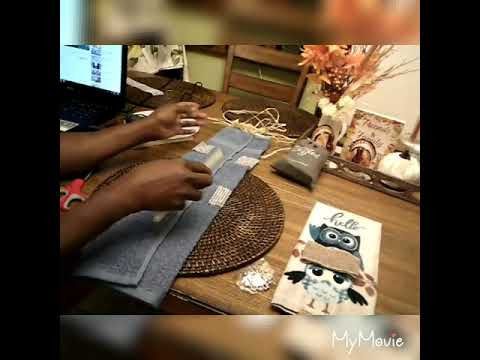 #DIY decorating Fall and Glam towels 2019 Collab