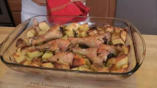 Roasted Chicken and Potato Bake - Recipe by Laura Vitale - Laura in the Kitchen Ep 199