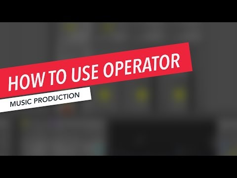How to Use Operator in Ableton Live | Music Production | Beginner | Tutorial