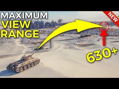 Maximum View Range Is CRAZY!   World Of Tanks Rheinmetall Panzerwagen Update 1.10