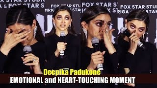 Deepika Padukone Gets Emotional and TEARS In Her Eyes at trailer launch of CHHAPAAK | Filmylooks