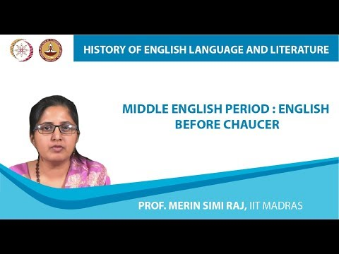Lecture 1c - Middle English Period : English Before Chaucer