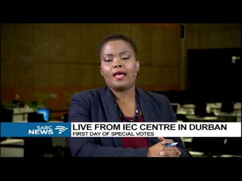 Ayanda Mhlongo wraps the 1st day of special votes in KZN
