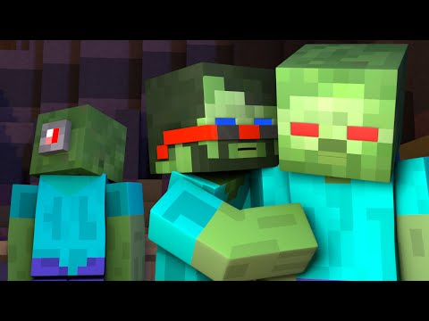 HOW TO BECOME A ZOMBIE IN MINECRAFT (Minecraft Animation)