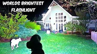 Worlds Brightest Flashlight 32000 Lumens