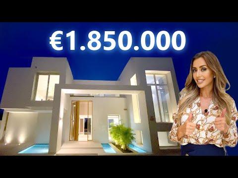 Touring €1,850,000 MODERN LUXURY VILLA in Spanish Hot Spot with Amazing Views   Marbella Villa Tour