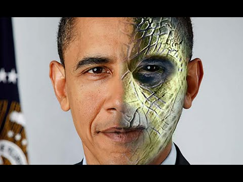 Obama and his reptilian bodyguard