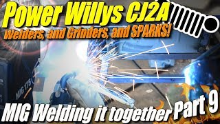 Mini Willys CJ2A Part 9: Mig Welding the Sheet Metal together with spot welds and butt welds
