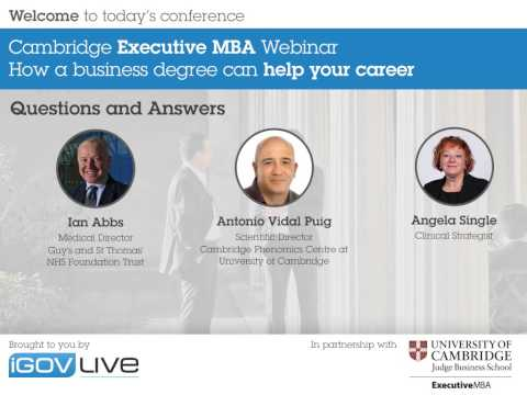 Cambridge EMBA webinar recording: How a business degree can help your career