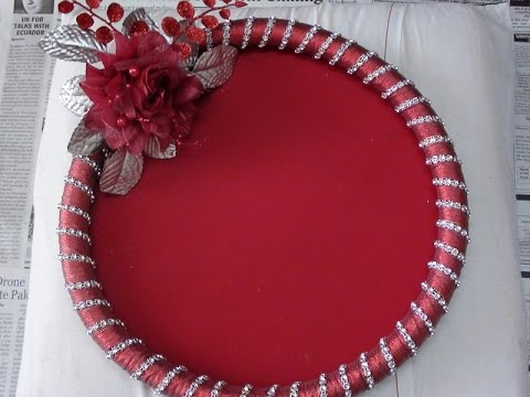 How to make Decorative Round Tray & How to make Decorative Round Tray - YouTube