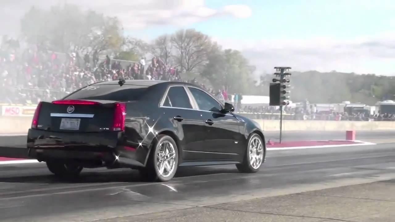 2009 Cadillac Cts V 1 4 Mile Drag Racing Youtube