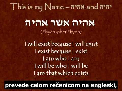 This is my Name יהוה and אהיה  Jeff A  Benner -  Ancient Hebrew Research Center