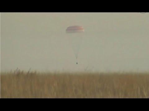 Sunday Morning Landing of Soyuz MS-01 with three ISS Crew Members