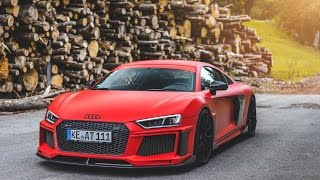 FIRST DRIVE IN THE CRAZY ABT AUDI R8 V10 PLUS!