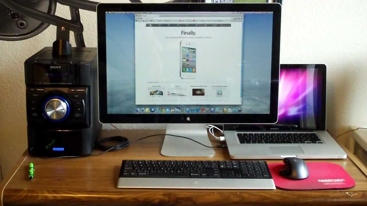 Macbook Pro Amp Apple Cinema Display Setup 2011 Youtube