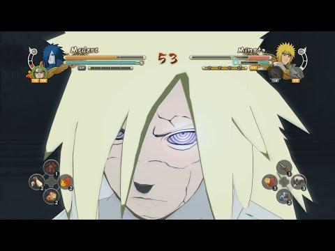 Naruto Storm 3: Full Burst - Holy Madara vs Sage Mode Minato