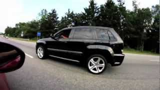 09' Jeep SRT8 FULL SLP exhaust video