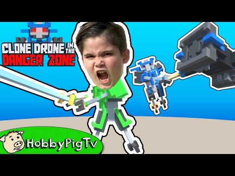 CLONE DRONE in the Danger Zone! Endless Robot Battle HobbyPigTV