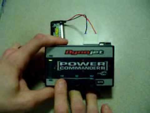 Power Commander III USB button adjustmen - YouTube