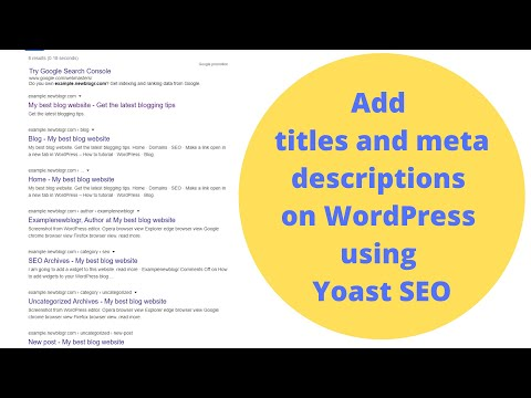 Yoast wordpress seo site title