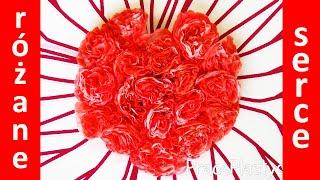Jak zrobić serce z kwiatów (róże) z papierowych podkładek?