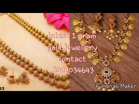 865a6cae12 Latest One Gram Gold Jewellery || One Gram Gold Jewellery || Contact  8008034643