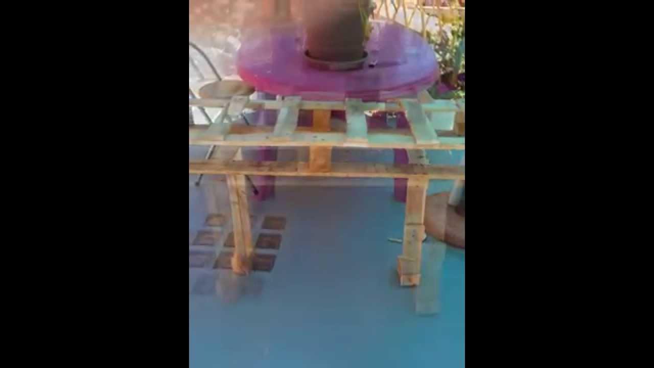 Fabriquer une console de terrasse avec une palette youtube - Fabriquer une terrasse avec des palettes ...