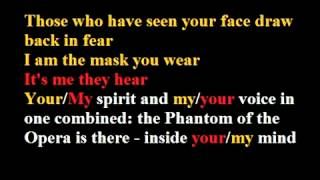 Phantom Of The Opera Karaoke / Instrumental Phantom of The Opera