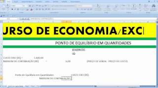Ponto de Equilíbrio Econômico em Quantidades