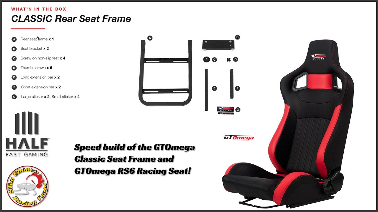 GTOmega Classic Rear Frame and RS6 seat build   3X Speed ...