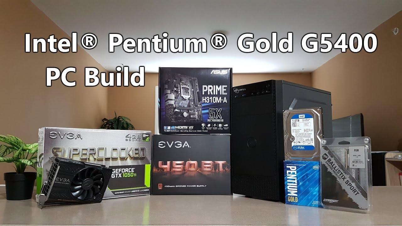 Intel Pentium Gold G5400 + EVGA GTX 1050 Ti SC Gaming PC ...