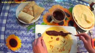 Способы заворачивания блинчиков.   Ways to wrap pancakes.