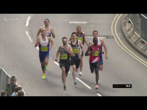 David Rudisha 57.69 500m world best Great North Run 2016