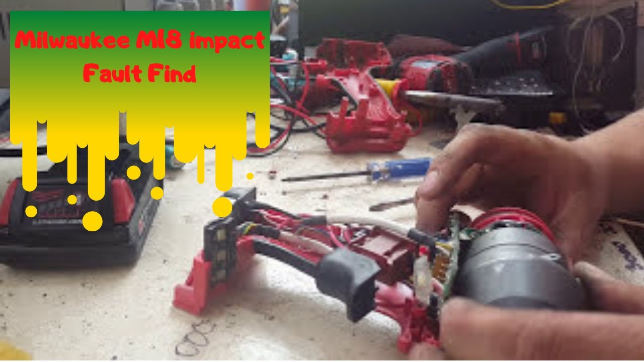 milwaukee m18 fid impact driver fault find and fix [ 1280 x 720 Pixel ]