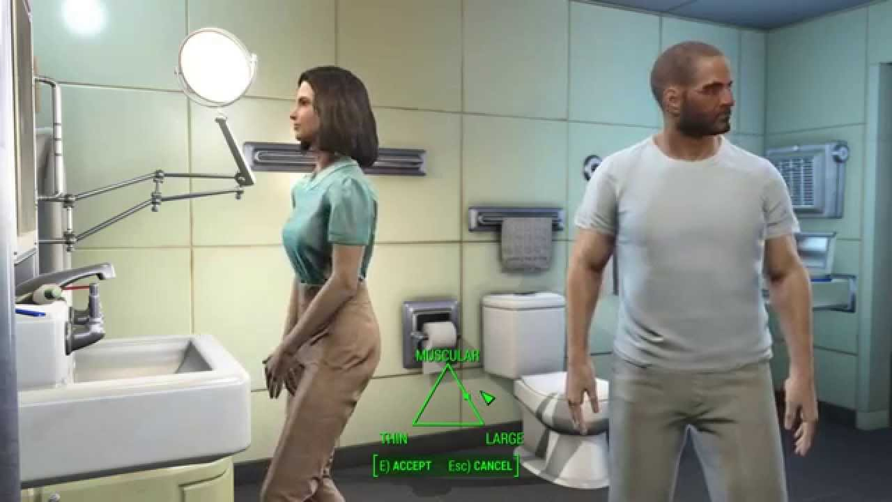 Fallout 4 Character Creation - Male Body Shapes