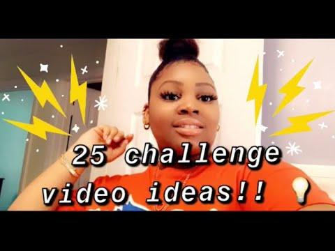 25 POPULAR CHALLENGE video ideas/ topics 😊