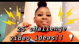 25 POPULAR CHALLENGE video ideas/ topics #2020! 😊