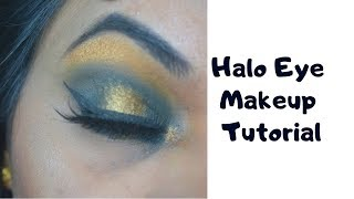 How to Halo Eye Makeup Tutorial For Small Eyes || Pinkishe || 2019